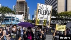 澳大利亞9月29日舉行聲援香港集會。