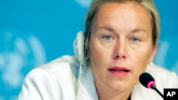 FILE - Sigrid Kaag will coordinate the joint U.N.-Organization for the Prohibition of Chemical Weapons (OPCW) mission to eliminate Syria's chemical weapons.