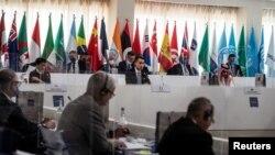 圖為20國集團在意大利舉行成員國外長會議(2021年6月29日)