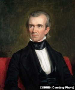 1846 portrait of James K. Polk by George Peter Alexander Healy