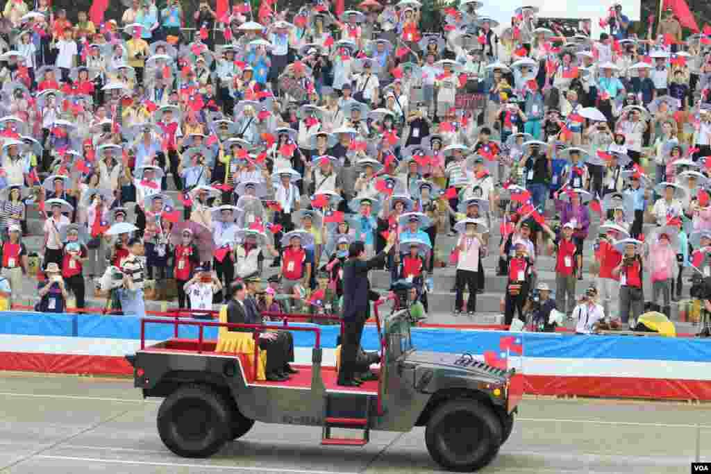 台湾总统马英九7月4日主持汉光演习 (美国之音杨明拍摄)