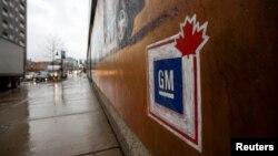 Fasad yon izin General Motors kote yo fè asanblaj pyès machin anba lavil Oshawa, nan Pwovens Ontario, nan Canada. (Foto: REUTERS/Carlos Osorio - 26 novanm 2018).