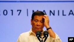 菲律賓總統杜特爾特在第30屆東盟峰會上星期六晚閉幕儀式上講話(2017年4月29日)
