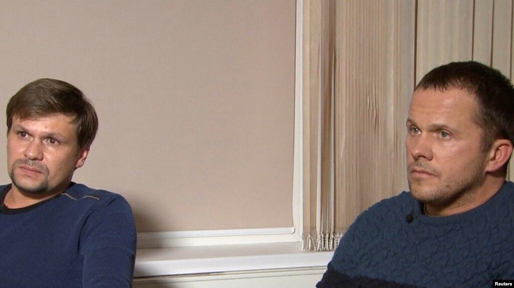 Мужчины, представившиеся главному редактору RT Маргарите Симоньян как «Александр Петров» и «Руслан Боширов»