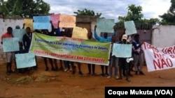 Manifestantes pedem transparência nas eleições em Angola, Cacuaco