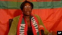Amélia Judith, secretária provincial da UNITA na Huíla.