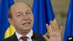 Presiden Rumania, Traian Basescu (29/7).