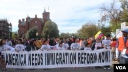Marcha a favor da imigração em Washington D.C.
