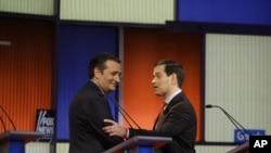 Ted Kruz və Marko Rubio biznesmen siyasətçi Trampa səs verməyən seçicilərin dəstəyi uğrunda çarpışırlar.