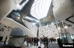 The Italian pavilion is seen at Expo 2015 in Milan, Italy, May 1, 2015.