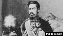 日本明治天皇肖像(日本每日新闻社图片)