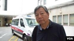 香港支聯會秘書李卓人 (美國之音特約記者 湯惠芸拍攝 )