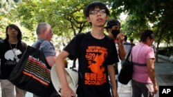 홍콩 학생운동가 조슈아 웡. (자료사진)