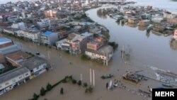 منطقه آق قلا در استان گلستان زیر آب رفته است.