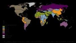 Bản đồ tiêu thụ rượu bia trên thế giới của WHO
