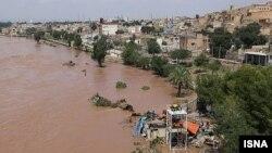 وقوع سیل در بخشی از شهر دزفول، واقع در استان خوزستان - ۲۸ فروردین ۱۳۹۵