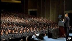 奥巴马总统对2009西点军校学员讲话