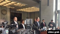 美国联邦调查局1月6号在旧金山举行记者会,宣布嫌疑人冯严丰(音译)被捕。