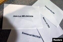 Imena predsedničkih kandidata na izborima za predsednika Francuske, 23. april 2017.