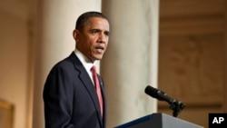 Le président Obama parlant de la nécessité d'une transition en Egypte