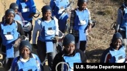 Women deminers in Angola.