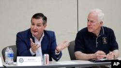 Los senadores republicanos, Ted Cruz y John Cornyn participaron el viernes de una mesa redonda con autoridades locales para tratar de conseguir una salida a la crisis que viven los niños separados de sus familias.