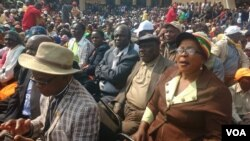Zanu PF supporters at the party's headquaters, Wednesday, July 27, 2016.