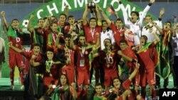 قهرمانی تیم فوتبال در بازی های جنوب آسیا