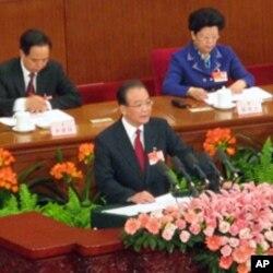 温家宝总理作政府工作报告