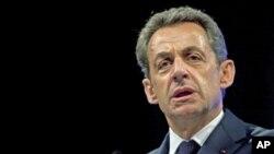 法國總統薩科齊4月17號在巴黎發表講話