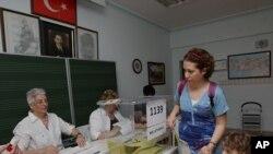 土耳其選民投票。