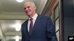 ທ່ານ George Papandreou, ນາຍົກລັດຖະມົນຕີກຣິສ. ວັນທີ 1 ພະຈິກ 2011