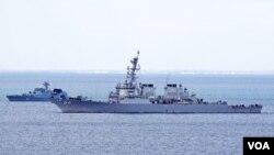 USS Carney ოკუპირებულ ყირიმთან