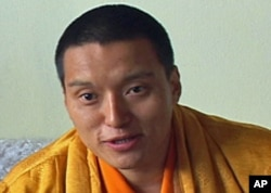 Ngawang Sherdrup Chokyi Nyima speaking during VOA interview at his monastery