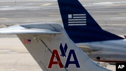 Pesawat American Airlines dan US Airways.