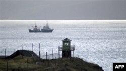 Một đồn lũy của Nga trên một trong các đảo đang tranh chấp với Nhật Bản