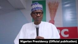 Le président Buhari annonce son intention de se présenter à la réélection en 2019 le 9 avril 2018.