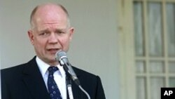 Britanski ministar vanjskih poslova William Hague