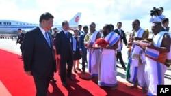中國國家主席習近平10月11抵達印度清奈。