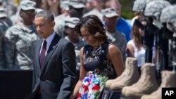 Shugaban kasar Amurka Barack Obama da uwargidansa.