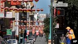 TƯ LIỆU - Một con đường trong khu phố Tàu ở San Francisco, ngày 31 tháng 1, 2020.