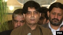 FILE - Pakistani Interior Minister Chaudhry Nisar Ali Khan.