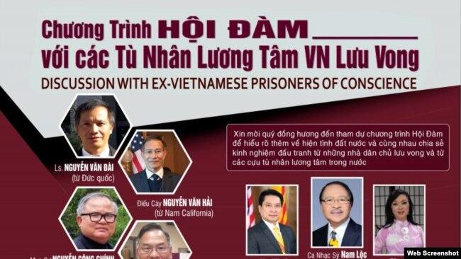 Tờ giới thiệu buổi Hội đàm cựu TNLT Việt Nam. Photo CPRVN