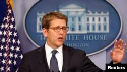 白宮發言人卡尼向記者發表談話