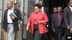Party insiders say with Mrs. Joice Mujuru enjoying the support of most of the provinces, there is a strategy to suspend some of her main backers ahead of the congress. (AP)