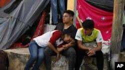 Мигранты из Гондураса в Мексике