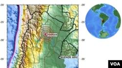 El sismo se sintió en Buenos Aires, capital argentina, en el barrio de San Isidro, llegaron a desalojar un Tribunal.