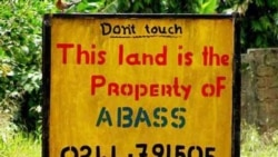 A sign marking private property in Angola