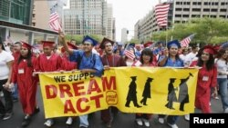 "Simpatizantes del llamado ""Dream Act"""