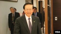 台灣海基會董事長田弘茂(美國之音楊明拍攝)